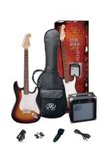 SX ¾ Essex Guitar Package - Sunburst + SX10 amp