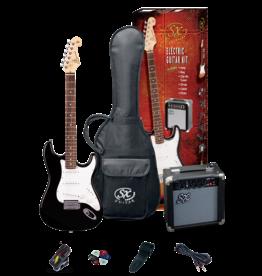 SX 4/4 Essex Guitar Package - Black + SX10 amp