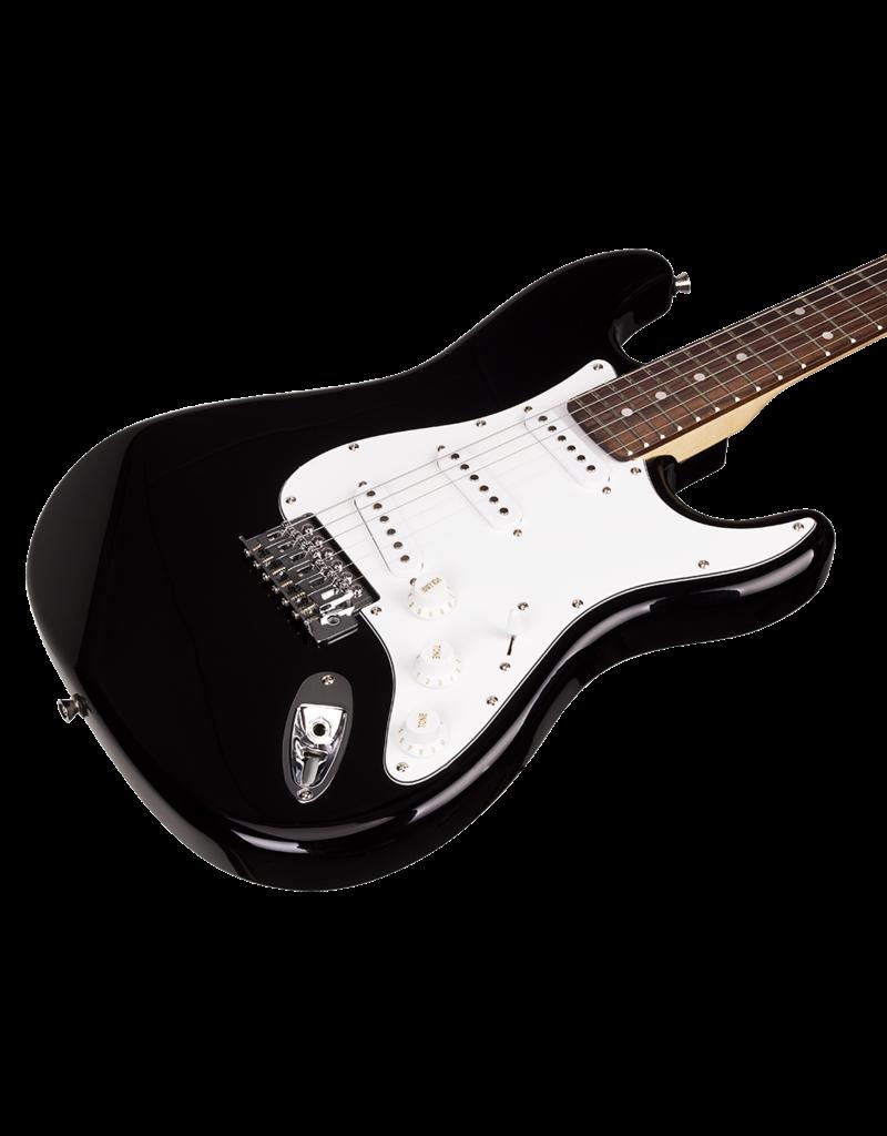 SX ESSEX PACKAGE - 4/4 BK SX Black Strat