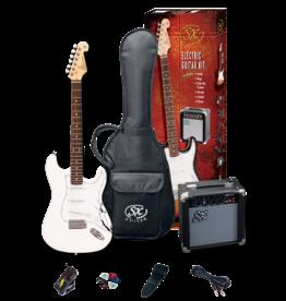 SX 4/4 Essex Guitar Package - White + SX10 amp