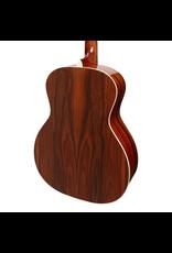Saga Saga '850 Series' Solid Spruce Top Acoustic-Electric Small-Body Guitar (Natural Gloss) inc Case