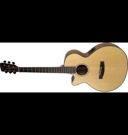 Cort SFX- E Acoustic Guitar Left Hand Satin Natural Finish