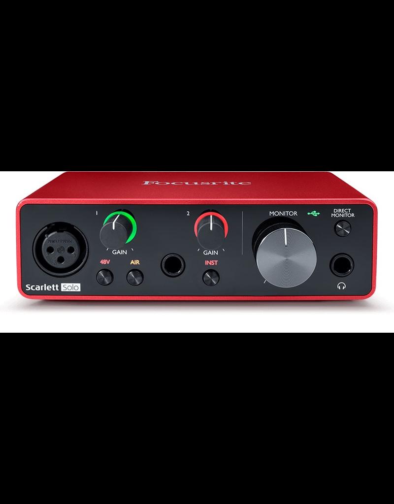Focusrite Scarlett Solo: GEN3 USB 2 / 2 IO, Scarlett Solo: USB 2 / 2 IO, 48v, Mic / Inst In