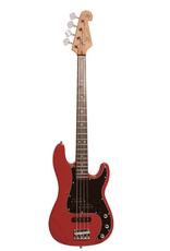 SX Vintage style bass Fiesta Red Traditional 60's style solid alder body. Maple neck with rosewood fingerboard.