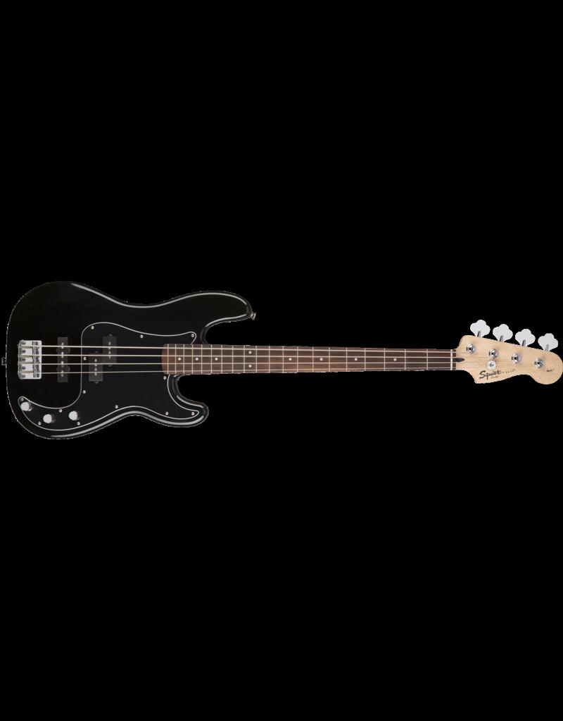 Squier Affinity Series Precision Bass PJ Pack, Laurel Fingerboard, Black, Gig Bag, Rumble 15 - 240V AU