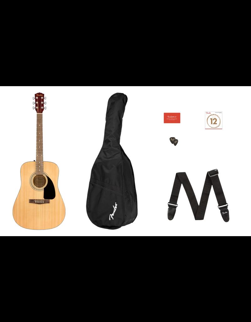 Fender FA-115 Dreadnought Pack, Natural, Walnut Fingerboard