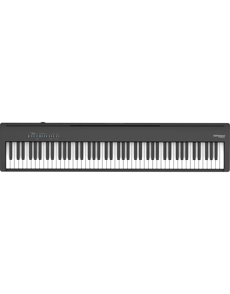 Roland FP30XBK Digital Piano with stand includes Pedal Board and stand
