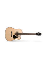 Cort AD880CE Dreadnought Cutaway Guitar Satin Natural with gig bag