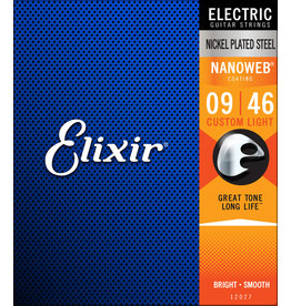 Elixir Elixir Nanoweb Nickel Plated Steel Custom Light 09-46