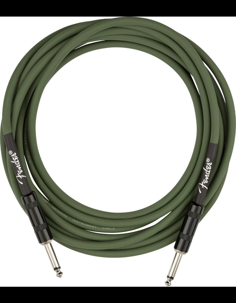 Fender Strummer Pro 13' Instrument Cable, Drab Green