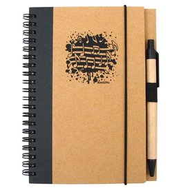 AIM RECYCLED MUSIC NOTES NOTEBOOK WITH PEN