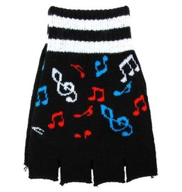 AIM FINGERLESS GLOVES WITH COLOR MUSIC NOTES
