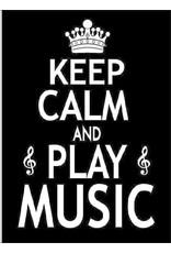 GREETING CARD KEEP CALM AND PLAY MUSIC