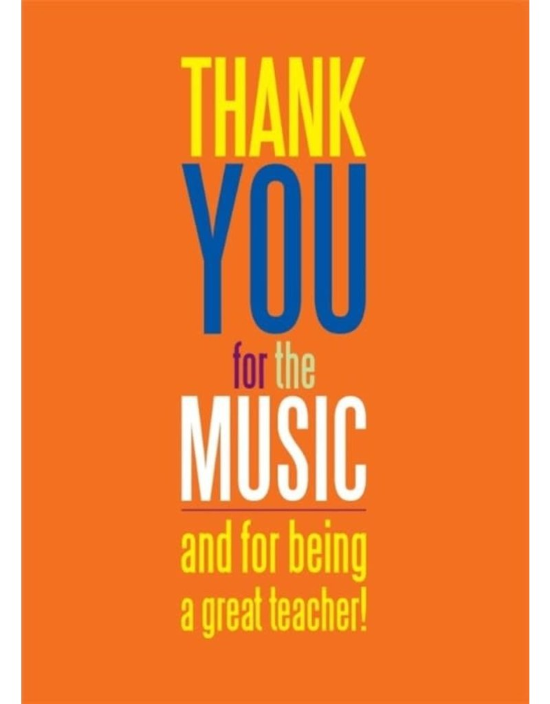 My World TEACHER THANK YOU FOR THE MUSIC GREETING CARD