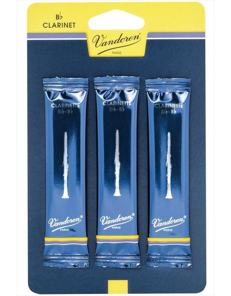 Vandoren Clarinet 1.5 (3 Pack) Traditional Reeds