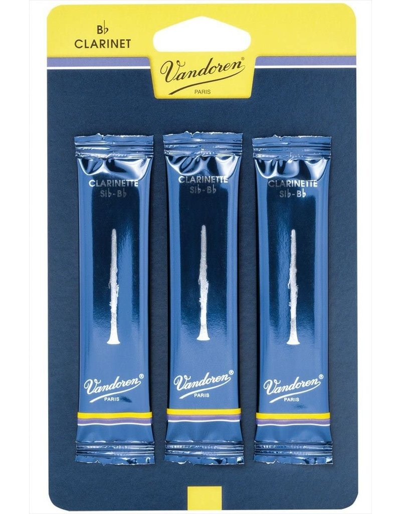 Vandoren Clarinet Reeds 3 (3 Pack)  Traditional Reeds