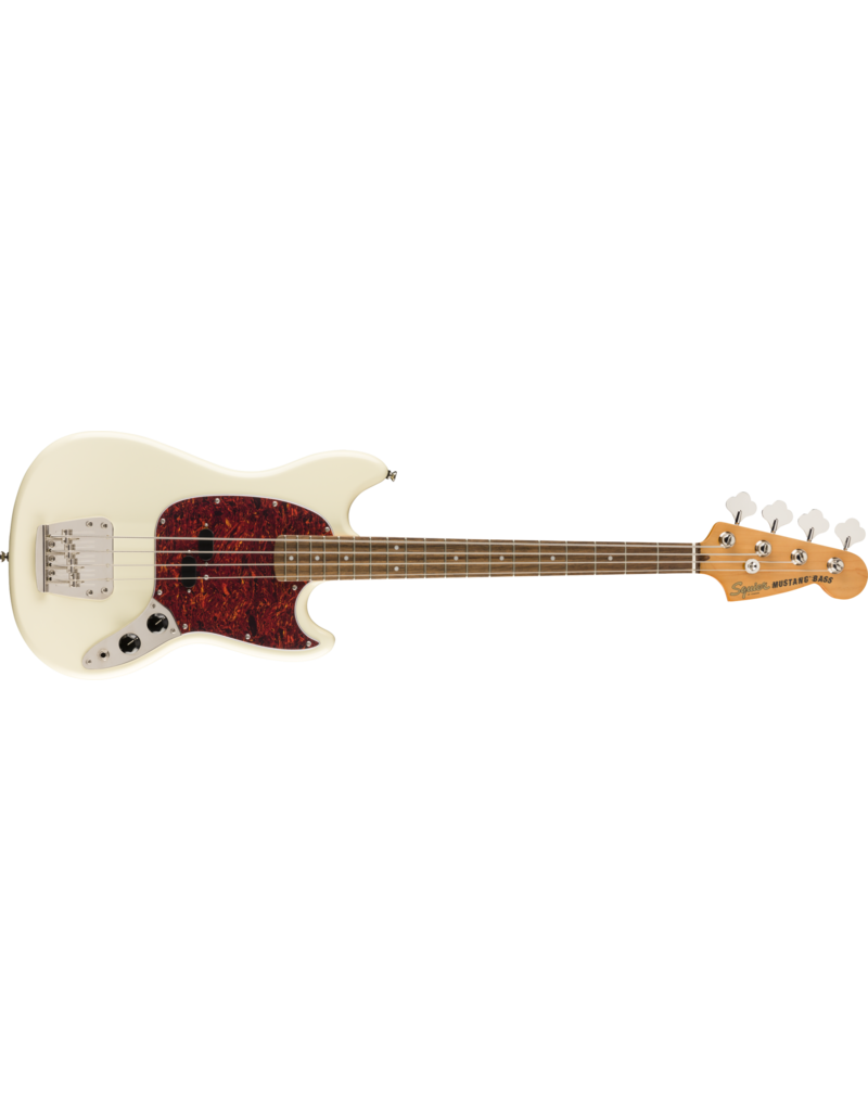 Squier Classic Vibe '60s Mustang Bass, Laurel Fingerboard, Olympic White