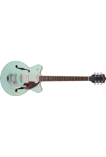Gretsch G2655T-P90 Streamliner Center Block Jr. Double-Cut P90 with Bigsby , Laurel Fingerboard, Two-Tone Mint Metallic and Vintage Mahogany Stain