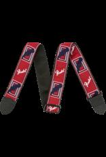 """Fender 2"""" Monogrammed Strap, Red/White/Blue"""
