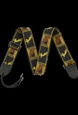 "Fender 2"" Monogrammed Strap, Black/Yellow/Brown"