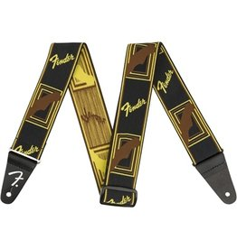Fender Weighless Monogrammed Strap Brown/Yellow Black