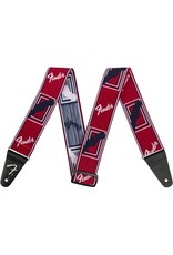 Fender Weighless Monogrammed Strap Red/White/Blue