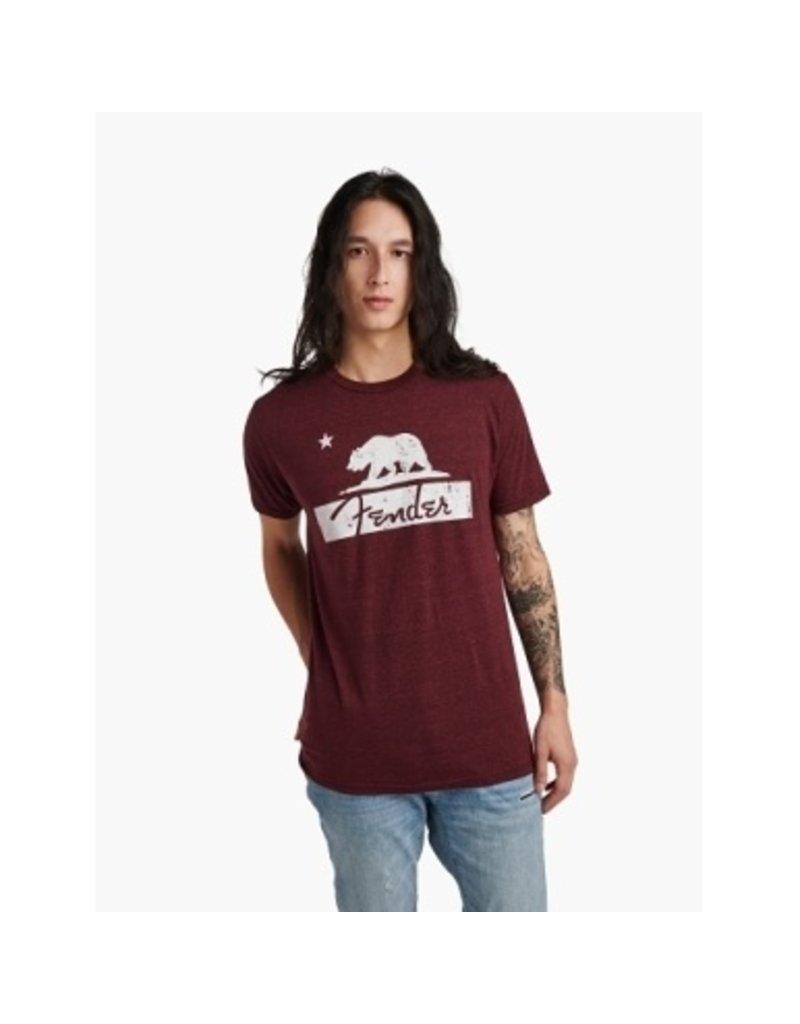 Fender Burgundy Bear Unisex T-Shirt / Small