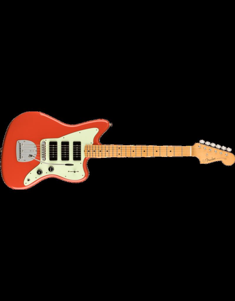 Fender Noventa Jazzmaster, Pau Ferro , Fiesta Red