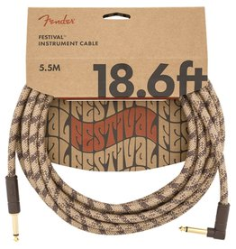 Fender 18.6ft Angle Cable Hemp Brown Stripe