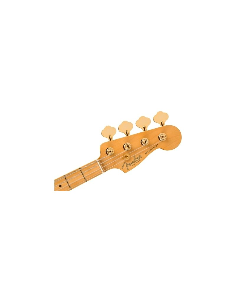 Fender 75th Anniversary Commemorative Precision Bass , Maple Fingerboard, 2-Colour Bourbon Burst