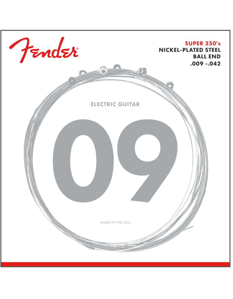 Fender 9-42 Super 250's Ball End