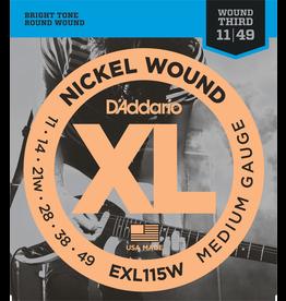 Daddario XL 11-49 Medium Wound  3rd