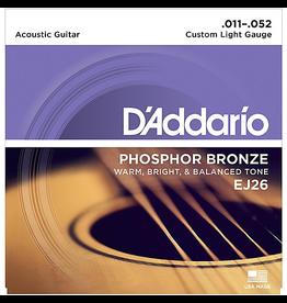 Daddario EJ26 Acoustic 11-52 Custom Light