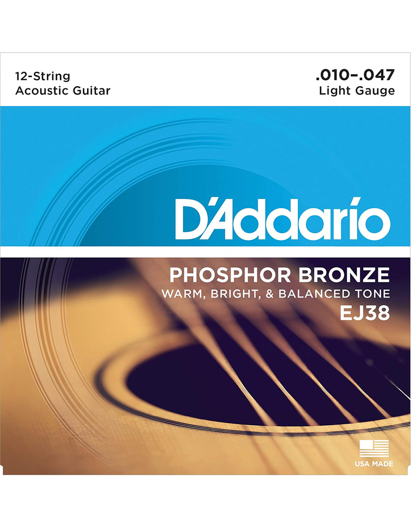 Daddario 12-String EJ38 Acoustic 10-17  Light