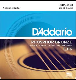 Daddario EJ16 Acoustic 12-53 Light