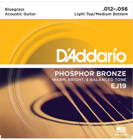 Daddario EJ19 Acoustic 12-56 Bluegrass Light Top/Medium Bottom