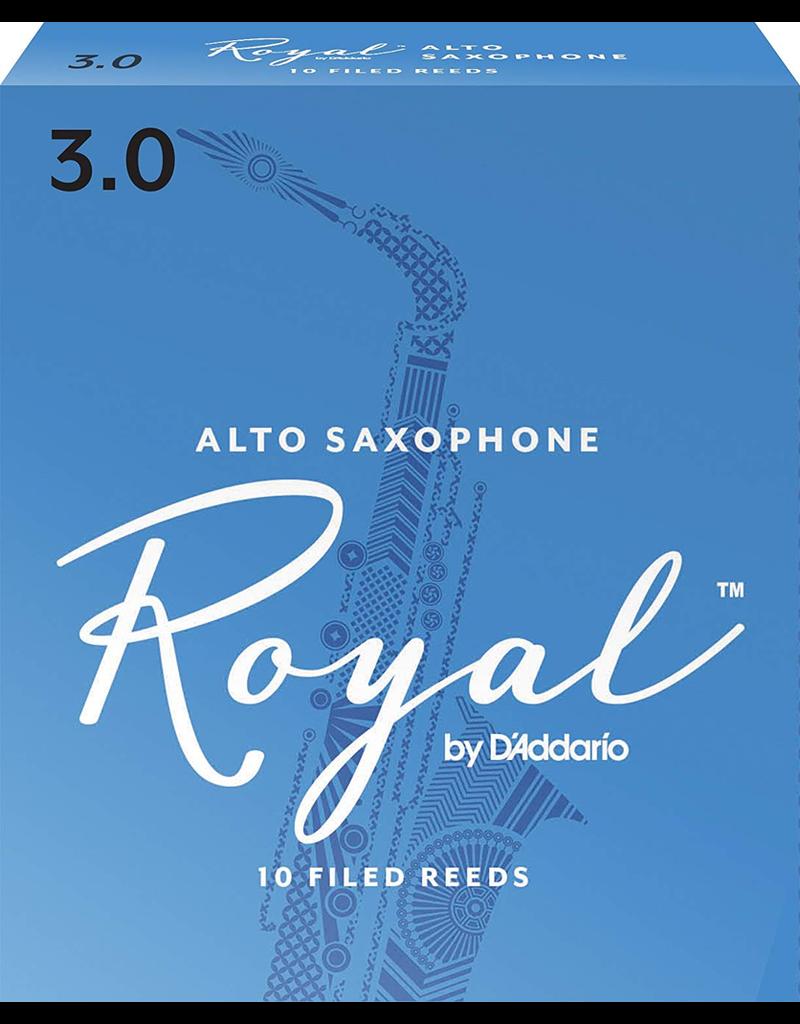 Rico Rico Alto Sax Reeds (10 Pack) 3.0 Royal (Blue)