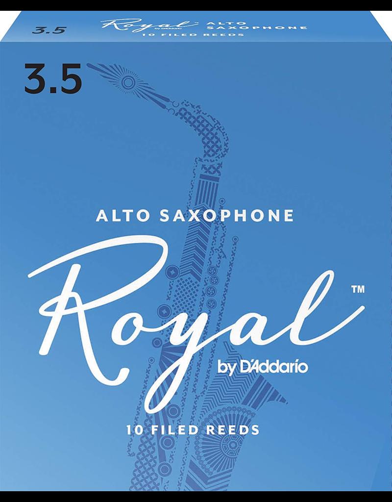 Rico Rico Alto Sax Reeds (10 Pack) 3.5 Royal (Blue)