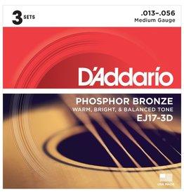 Daddario 3-Sets EJ17 Acoustic 13-56 Medium