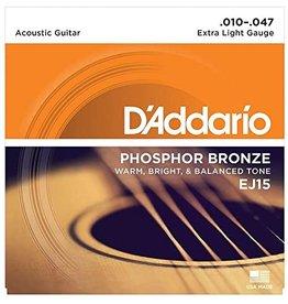 Daddario EJ15 Acoustic 10-47 Extra Light