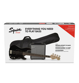 Squier Affinity Series Precision Bass PJ Pack, Black