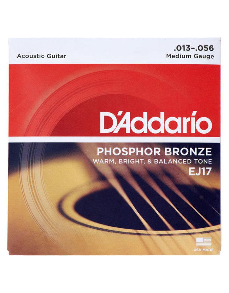 Daddario EJ17 Acoustic 13-56 Medium