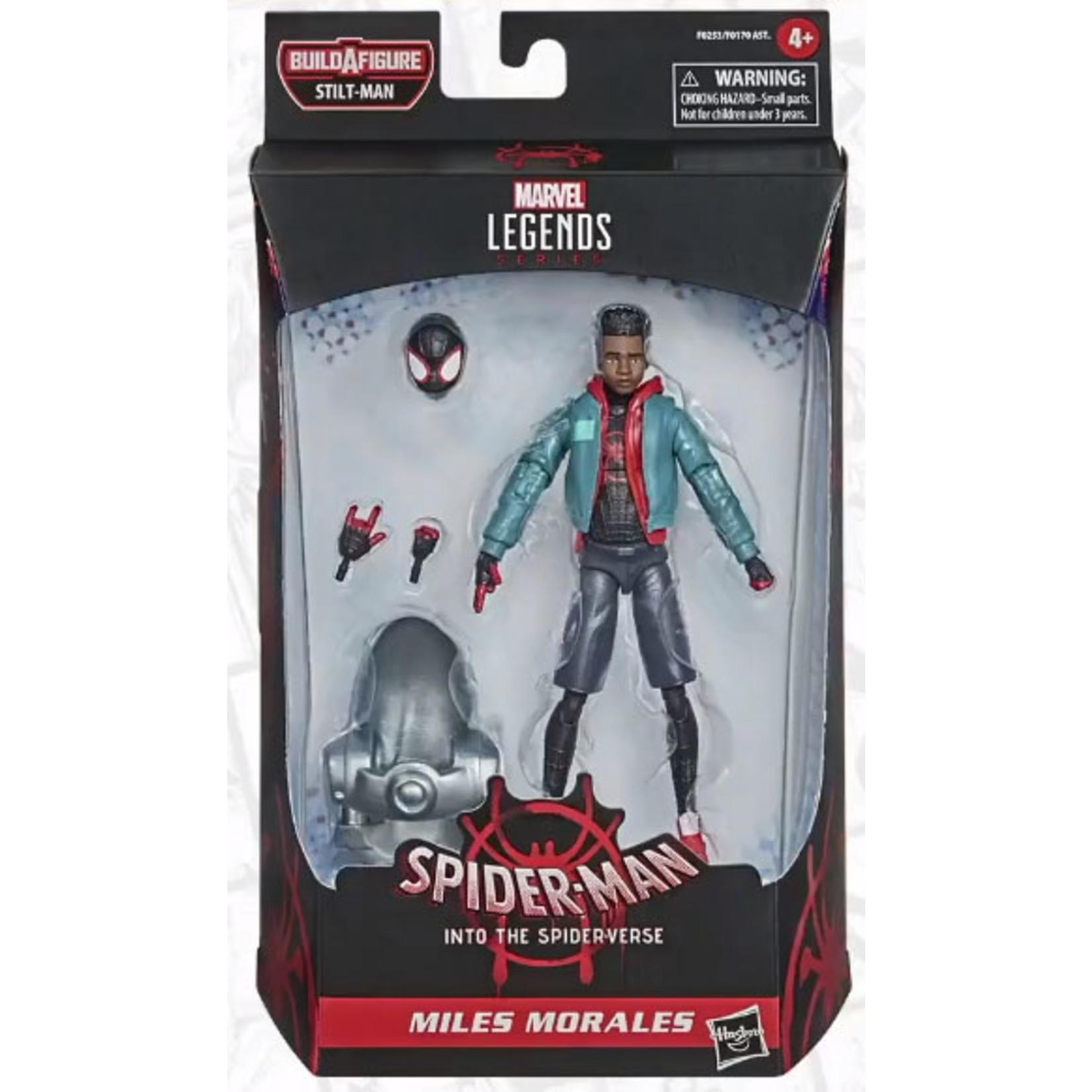 Hasbro Spider-Man: Into the Spider-Verse Marvel Legends Miles Morales (Stilt-Man BAF)