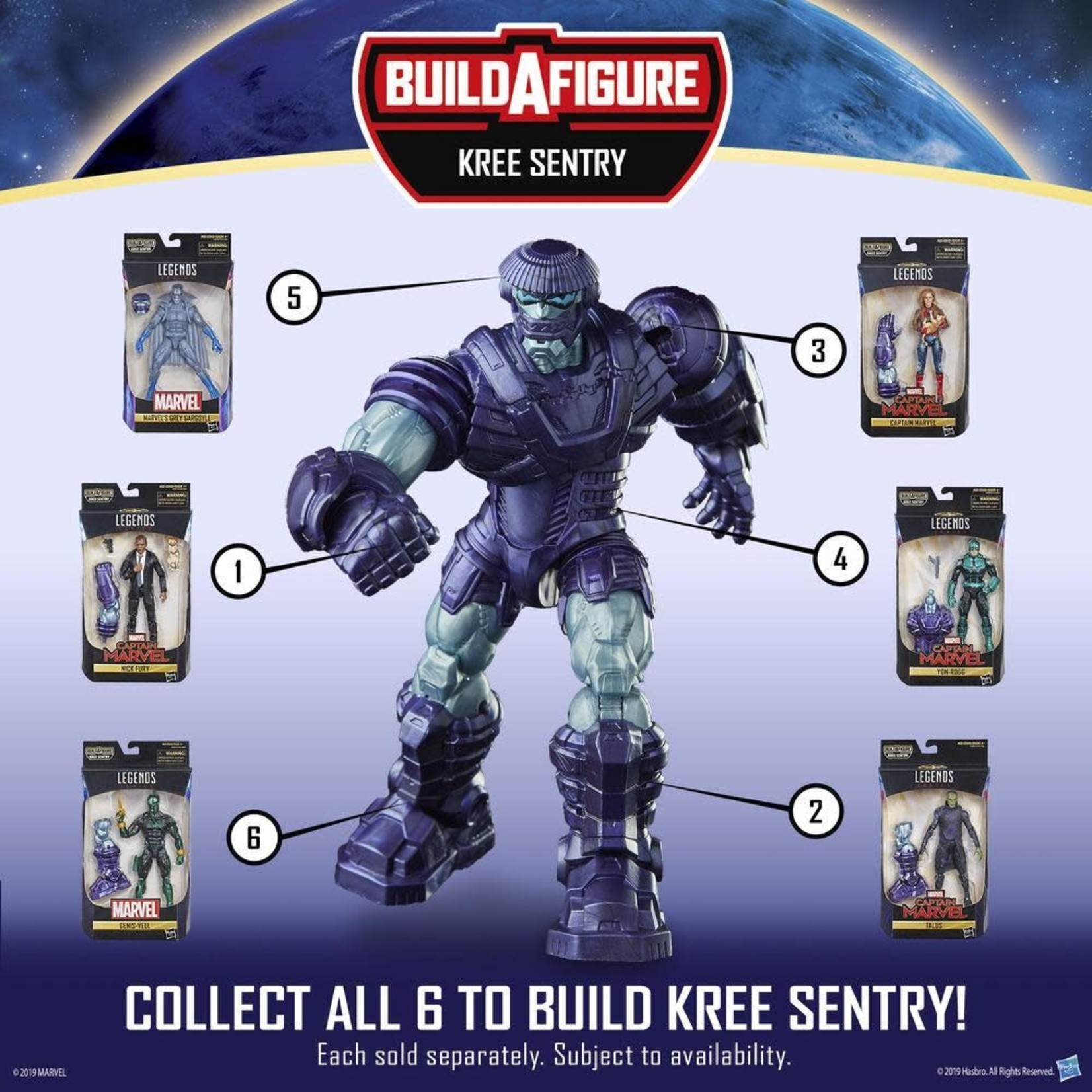 Hasbro Marvel Legends Captain Marvel Kree Sentry BAF - Talos
