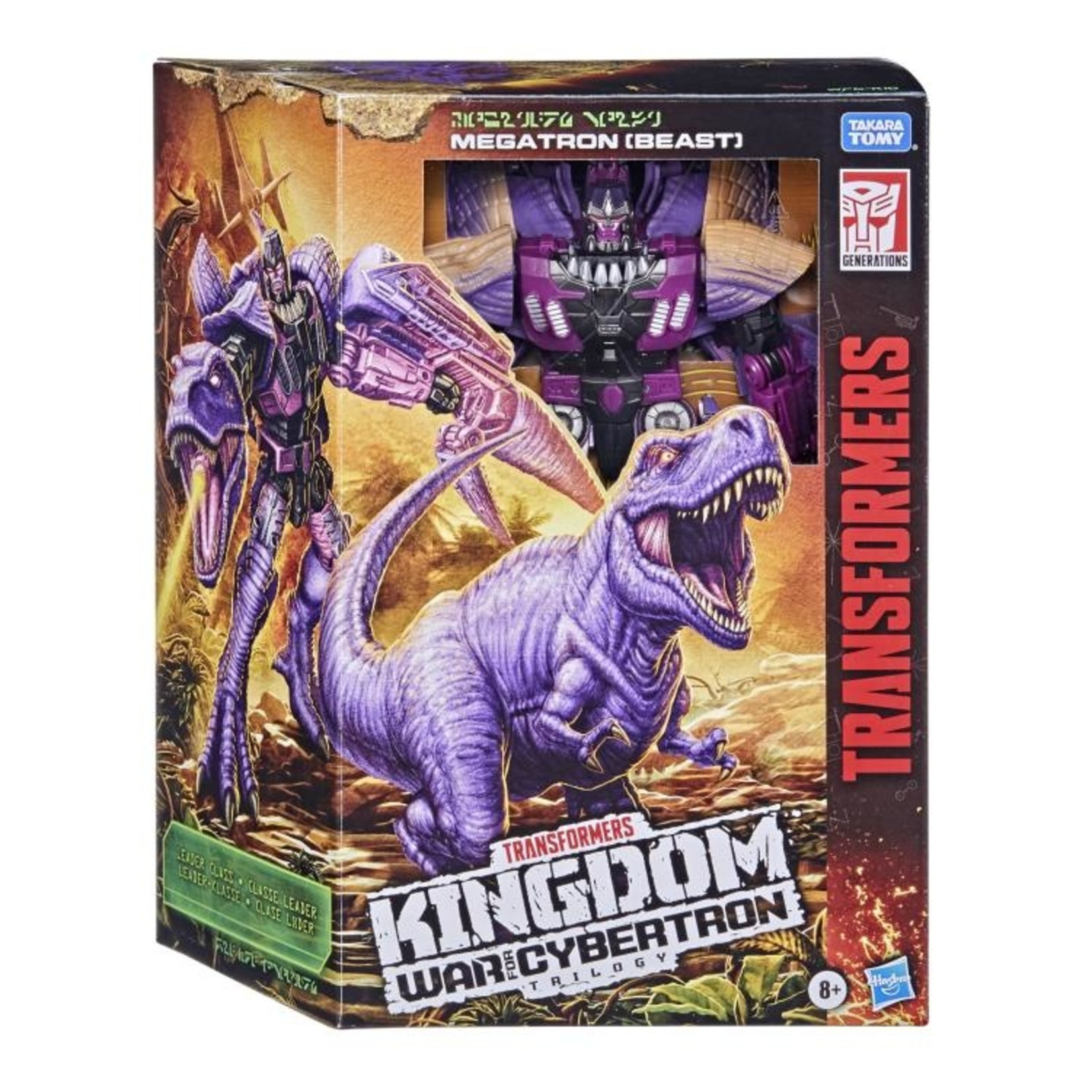 Hasbro Transformers Toys Generations War for Cybertron: Kingdom Leader Trex Megatron Beast