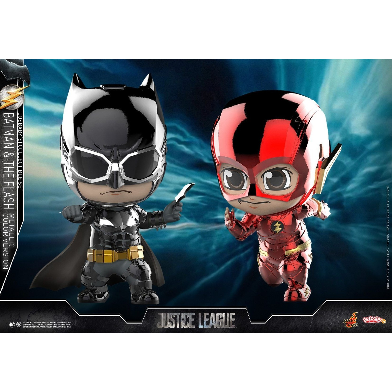 Hot Toys Cosbaby COSB398 Batman and The Flash ( Metallic color version)