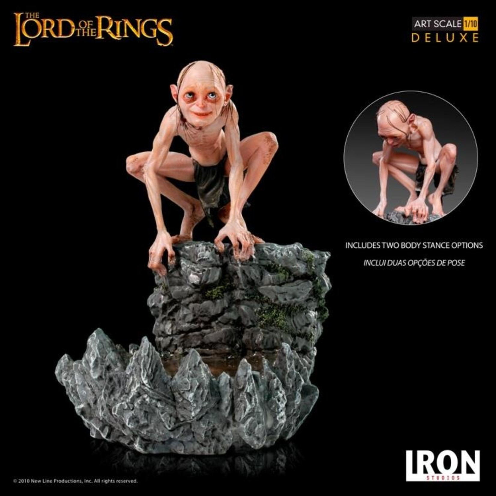 Iron Studios Gollum Deluxe Art Scale 1/10 - Lord of the Rings