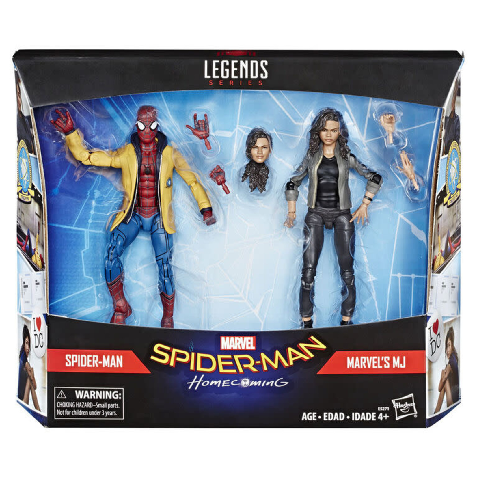 Hasbro Marvel Legend 2-Pack Spider-Man Homecoming Spiderman and MJ