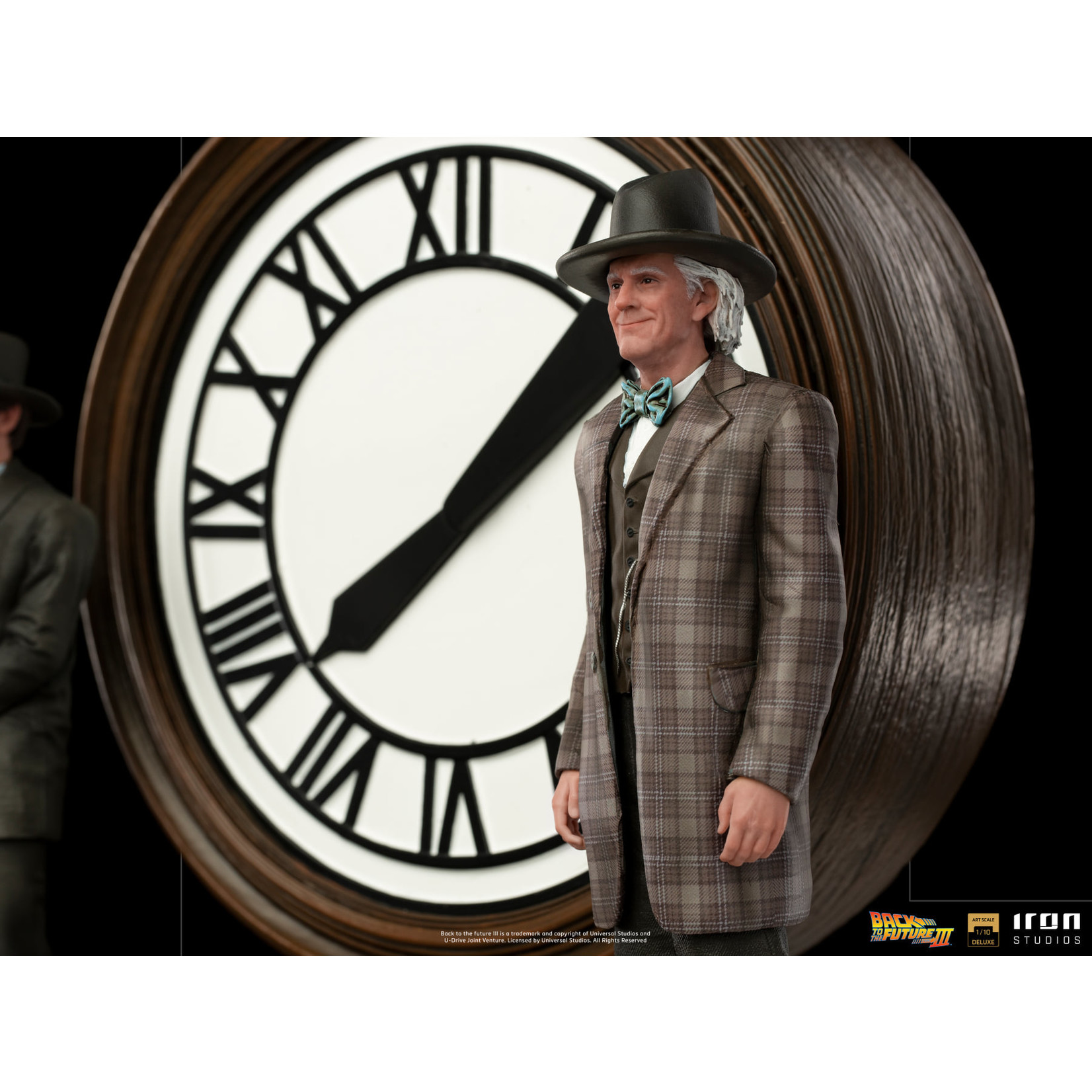 Iron Studios [Precommande] Iron Studios Marty and Doc at the Clock Deluxe Art Scale 1/10 - BTTF III