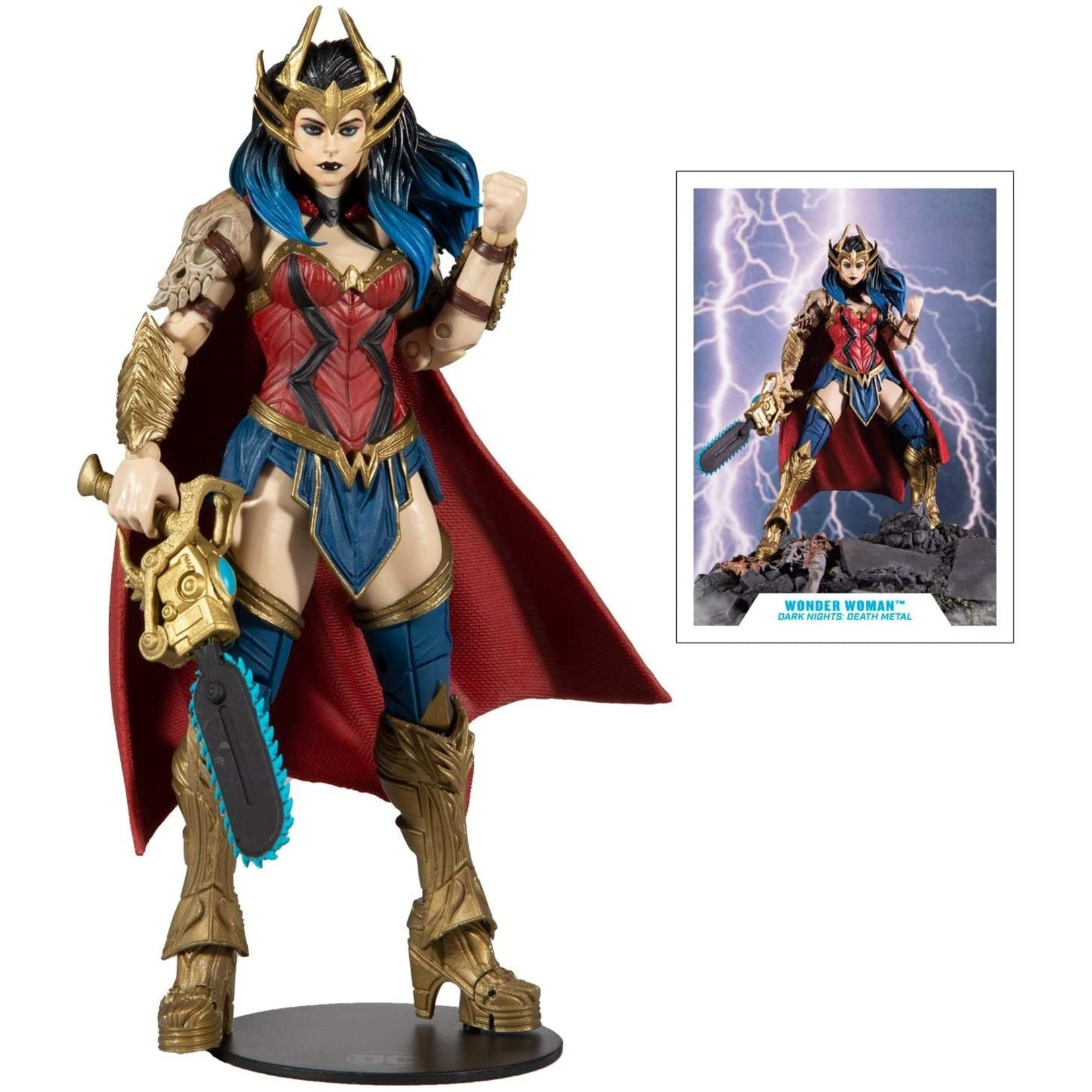 McFarlane Toys Dark Nights: Death Metal DC Multiverse Wonder Woman Action Figure (Collect to Build: Dark Father)